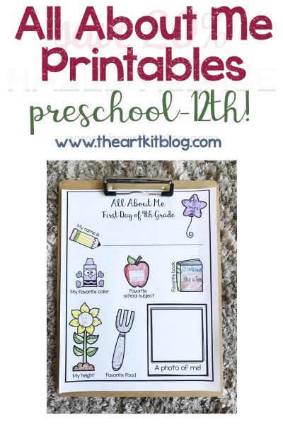 all-about-me-first-day-of-school-printable-pack-the-art-kit-pinterest-1
