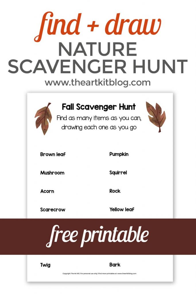 image about Printable Draw identify Slide Identify + Attract Scavenger Hunt No cost Printable - The Artwork Package