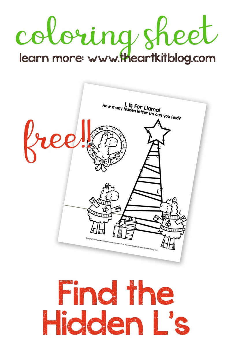 L Is For Llama Coloring Page And Search Find Free Printable The Art Kit