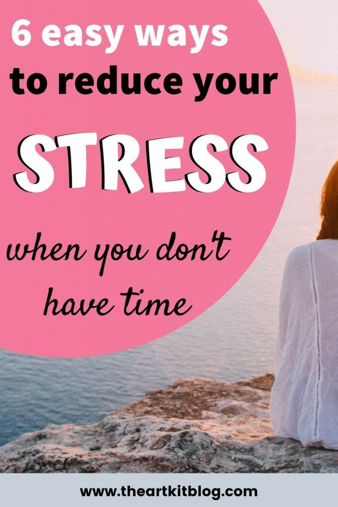 how to destress when you don't have the time