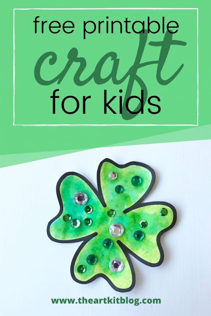 St. Patrick's Day paper cut and paste craft for kids shamrock