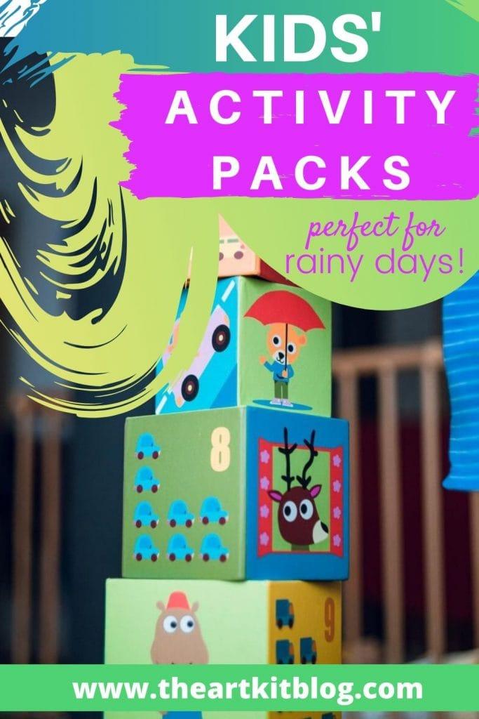 kids activity packs perfect for sick days and rainy days and coronavirus