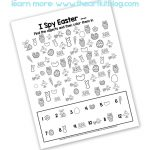 i spy easter printable for kids free pinterest
