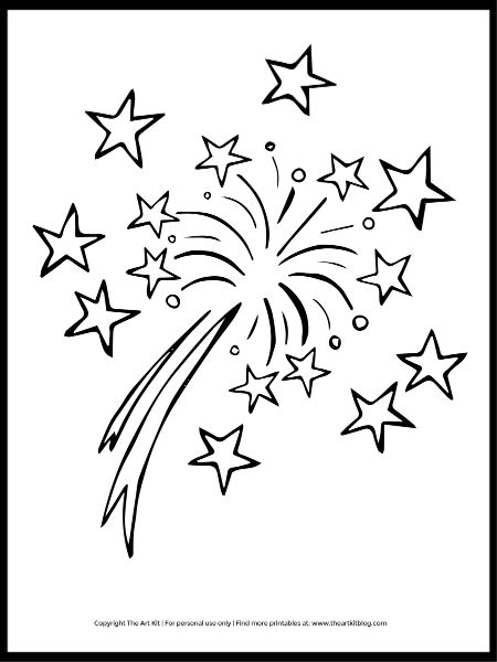 - 1 Totally Festive Fireworks Coloring Page (Free Download) - The Art Kit