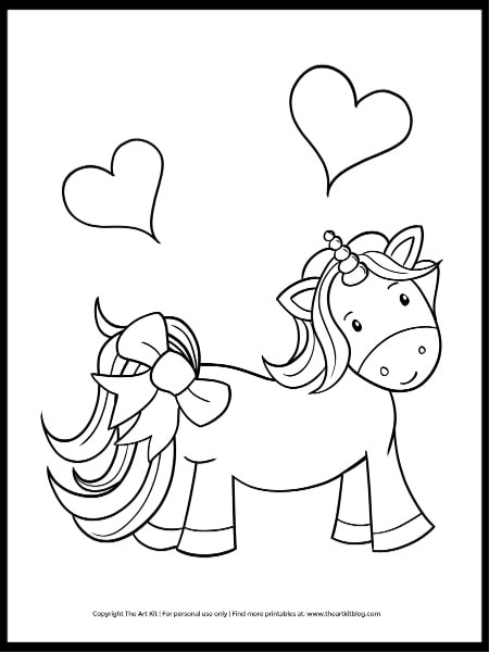 - Cute As A Bow Unicorn Coloring Page (FREEBIE!) - The Art Kit