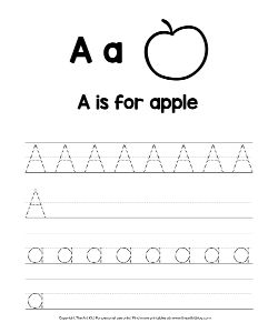Alphabet Letter A Coloring Pages And Printable Worksheets The Art Kit