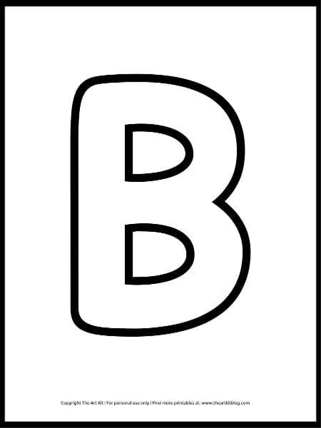 Uppercase Letter B Outline Printable (FREE!) - The Art Kit