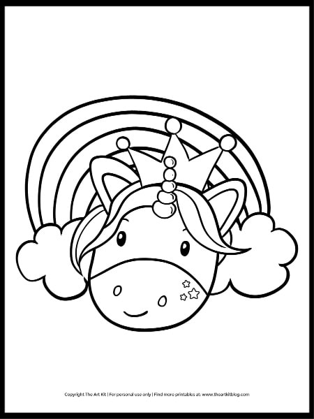 Princess Unicorn Coloring Page (free Printable Download) - The Art Kit