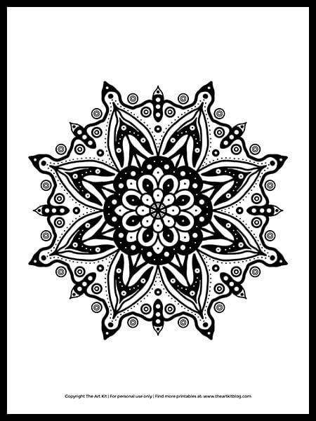 Free Printable Mandala Coloring Page The Art Kit