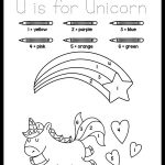 Cute Color By Number Unicorn Coloring Page For Preschoolers The Art Kit