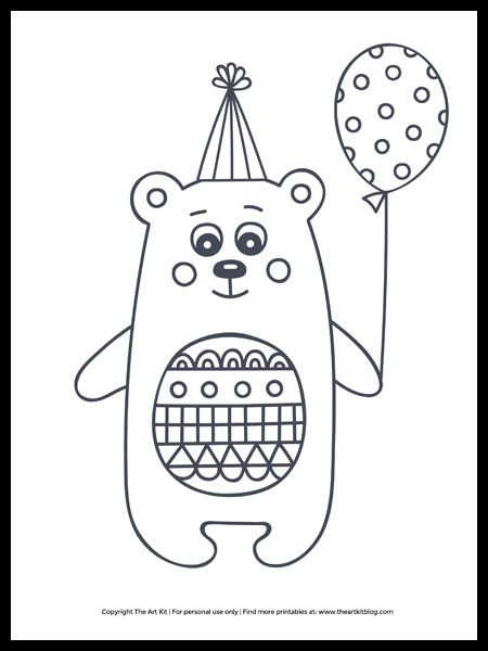 Hello Kitty with Balloons coloring page | Free Printable Coloring Pages | 600x450