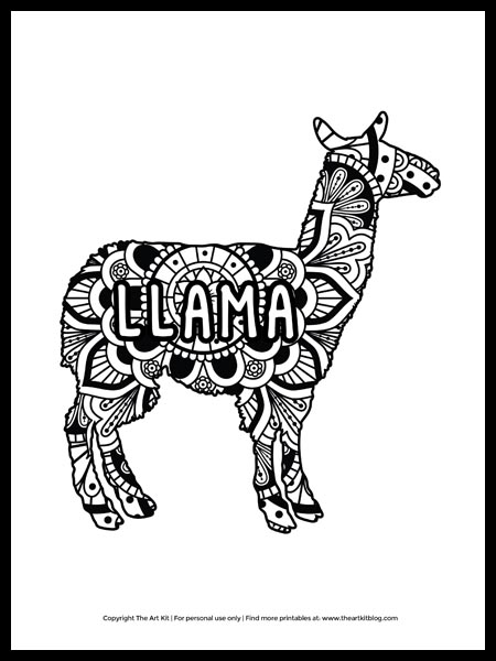 Animal Mandala Coloring Pages | Animal Jr. | 600x450