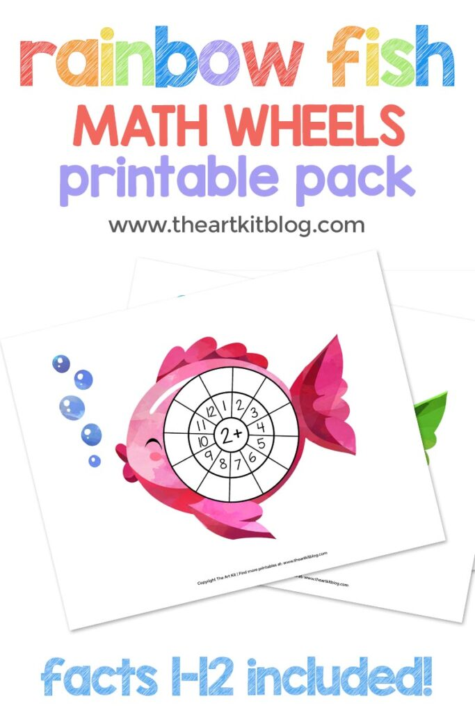 Make Math FUN! Adorable Rainbow Fish Addition Math Wheels - The Art Kit