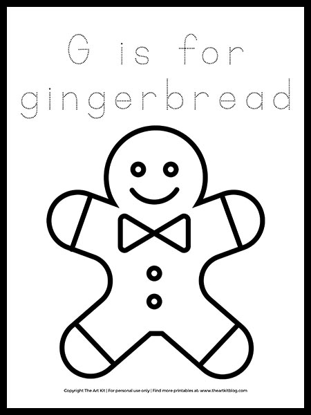 - FREE! Letter G Is For Gingerbread Coloring Page - The Art Kit