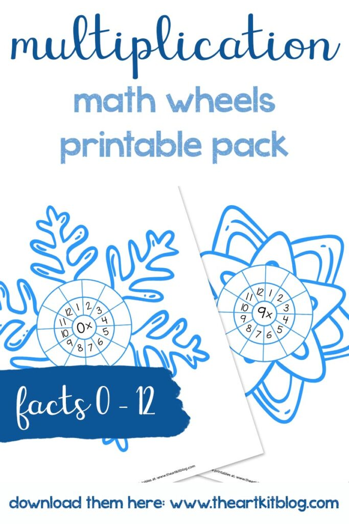 Winter Snowflake Multiplication Math Wheels Waldorf Inspired Coloring Pages Facts 0 12 The Art Kit